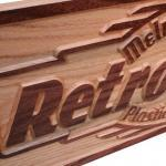 BUSINESS SIGN Carved Wooden Sign Pe..