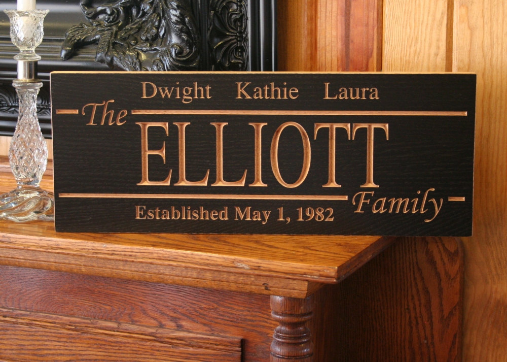 Last Name Sign Personalized Family Name Sign Marriage